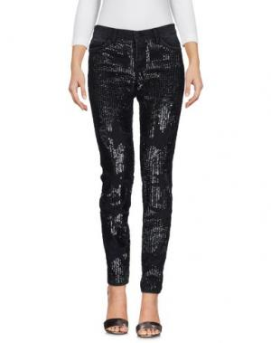 Джинсовые брюки SIMONA CORSELLINI. Цвет: черный