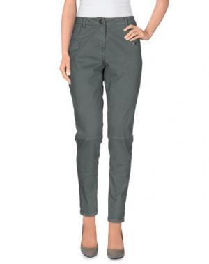 Повседневные брюки PRIVE' ITALIA. Цвет: свинцово-серый