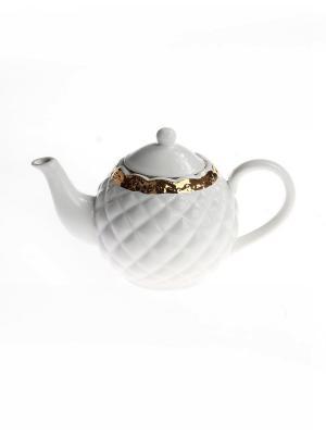 Чайник заварочный 22,5*13,5*15,5 см. (1040 мл.) PATRICIA. Цвет: белый