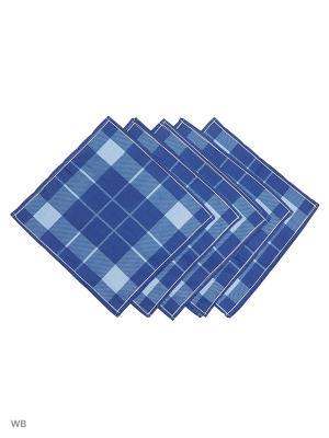 Набор Платков Носовых Римейн. Цвет: синий, голубой