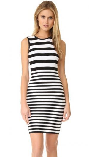 Текстурированное платье в полоску Ali & Jay. Цвет: черный/белый