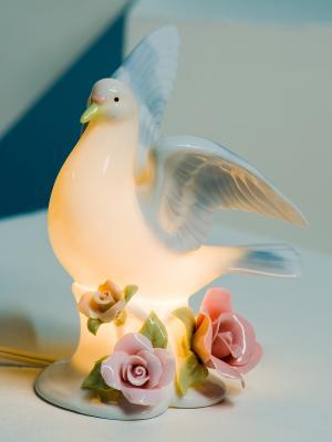 Светильник Голубь Pavone. Цвет: белый, голубой