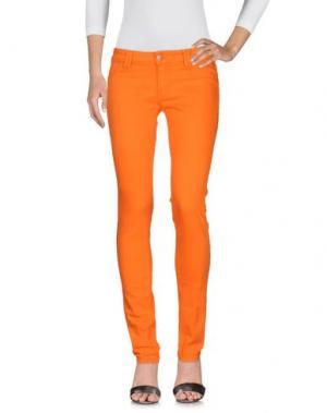 Джинсовые брюки DON'T CRY. Цвет: оранжевый