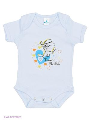 Пижама ясельная MN0101 02 цвет голубой, зайчик Квирит. Цвет: голубой