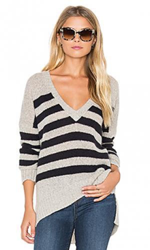 Свитер с v-образным вырезом monroe 360 Sweater. Цвет: серый