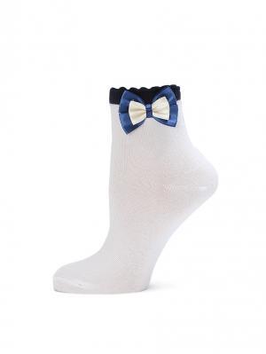 Носки LARMINI. Цвет: кремовый, темно-синий