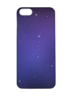 Чехол для iPhone 5/5s Космическая ночь Арт. IP5-073 Chocopony. Цвет: темно-синий, белый