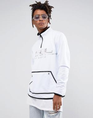 Cayler & Sons Белая спортивная куртка с молнией до груди. Цвет: белый