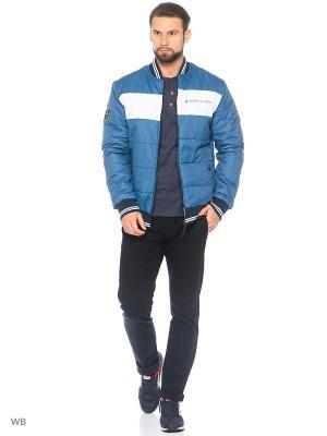 Куртка Stayer. Цвет: темно-синий, бирюзовый, белый