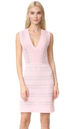 Трикотажное платье Giambattista Valli. Цвет: розовый