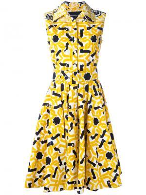 Платье Gigi Samantha Sung. Цвет: жёлтый и оранжевый