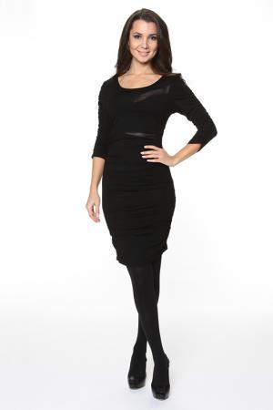 Облегающие платье с прозрачными вставками Piamente. Цвет: черный