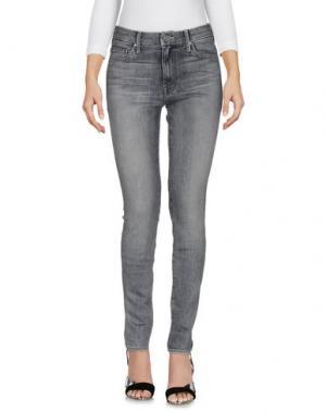 Джинсовые брюки MOTHER. Цвет: серый