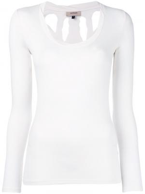 Блузка Torn Murmur. Цвет: белый