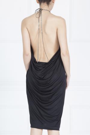 Шелковое платье Azzaro. Цвет: черный