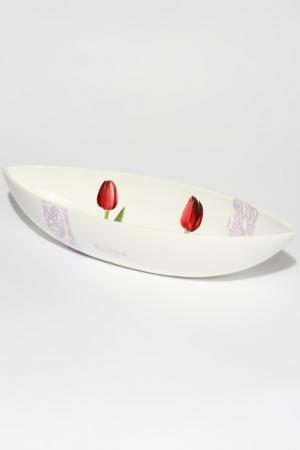 Блюдо глубокое овальное Ceramiche Viva. Цвет: мульти