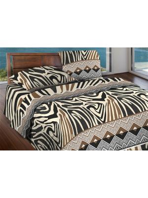 Комплект постельного белья 1,5 бязь Tanga Wenge. Цвет: бежевый, коричневый