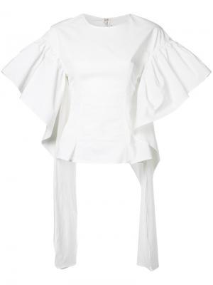 Flared sleeve blouse Rejina Pyo. Цвет: белый