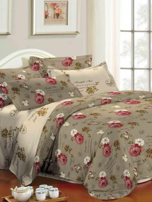 Комплект постельного белья 2 спальный Ля Мур. Цвет: коричневый