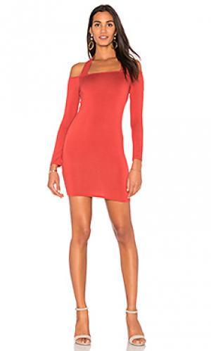 Платье с открытыми плечами kaylin Clayton. Цвет: ржавый