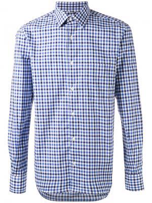 Рубашка в клетку Aspesi. Цвет: синий