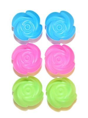 Силиконовые формы для маффинов, 6 шт DiMi. Цвет: розовый, зеленый