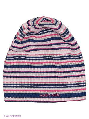 Шапка Agbo. Цвет: синий, розовый