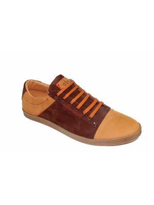 Туфли GassA. Цвет: коричневый, рыжий