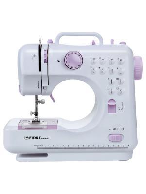 Швейная машинка FIRST 5700-2 Электропитание:  DC 6 В, 1200 мА / от 4 батареи АА Purple. Цвет: розовый, белый