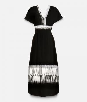 Контрастное платье Christopher Kane. Цвет: чёрный