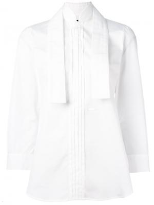 Плиссированная рубашка Dsquared2. Цвет: белый