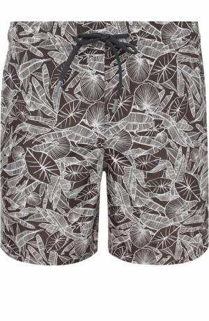 Плавки-шорты с принтом Z Zegna. Цвет: хаки