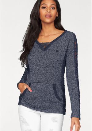 Пуловер Kangaroos. Цвет: темно-синий меланжевый