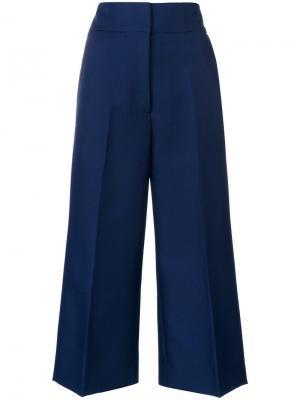 Укороченные брюки клеш Marni. Цвет: синий