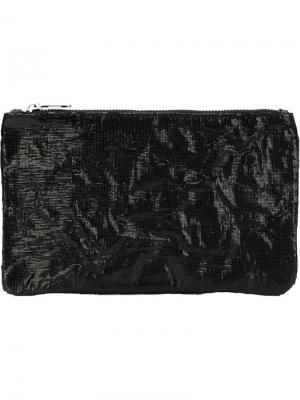 Большой кошелек с лакированной отделкой Zilla. Цвет: чёрный