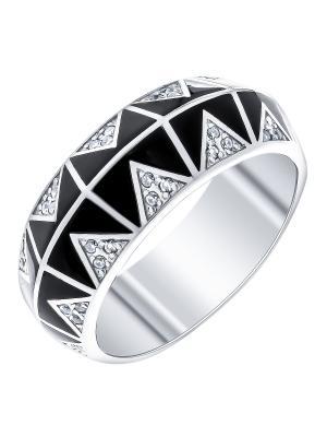 Кольцо Teosa. Цвет: черный, прозрачный