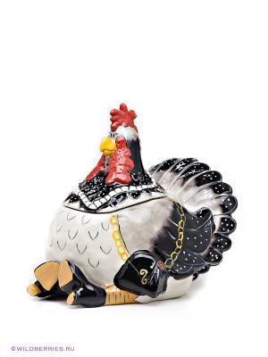 Емкость для сыпучих приправ Мадам Курица Blue Sky. Цвет: белый, черный, коричневый