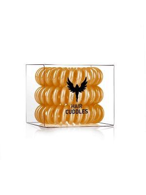 Резинка для волос Hair Cuddles HH Simonsen золотая (3 шт.) НОВИНКА!. Цвет: золотистый