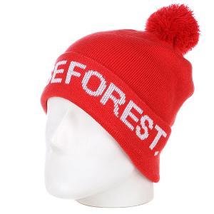 Шапка с помпоном  Dense Forest Red Terror. Цвет: красный