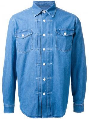 Джинсовая рубашка Allman Brothers YMC. Цвет: синий