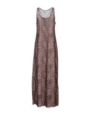 Длинное платье F**K PROJECT. Цвет: коричневый