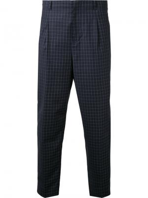 Укороченные клетчатые брюки 3.1 Phillip Lim. Цвет: синий