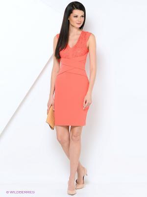 Платье EXPLOSION. Цвет: коралловый