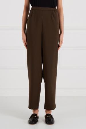 Однотонные брюки цвета хаки Cyrille Gassiline. Цвет: коричневый