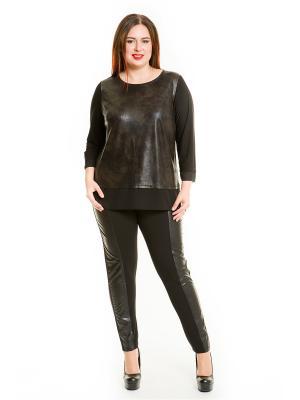 Блузка Luxury Plus. Цвет: темно-серый