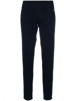 Спортивные брюки с карманами на молнии Tomas Maier. Цвет: синий