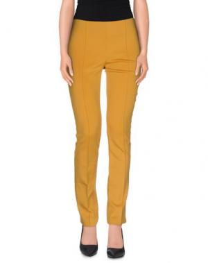 Повседневные брюки PF PAOLA FRANI. Цвет: желтый