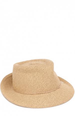 Шляпа с декором Eric Javits. Цвет: бежевый