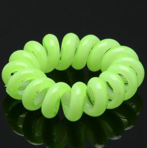 Резинка-Пружинка для волос, арт. РПВ-089 Бусики-Колечки. Цвет: зеленый