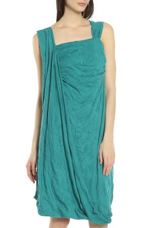 Платье Oblique. Цвет: бирюзовый